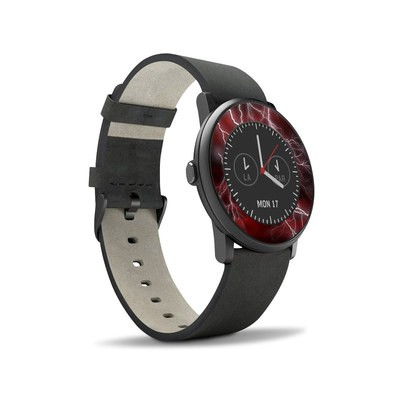 Pebble Time Round Skin - Apocalypse Red