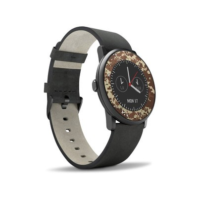 Pebble Time Round Skin - Digital Desert Camo