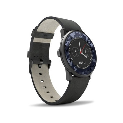Pebble Time Round Skin - Digital Navy Camo