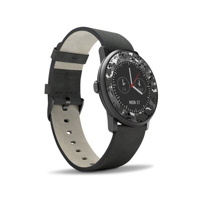 Pebble Time Round Skin - Digital Urban Camo