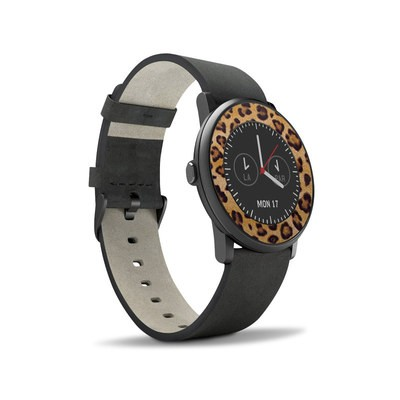 Pebble Time Round Skin - Leopard Spots