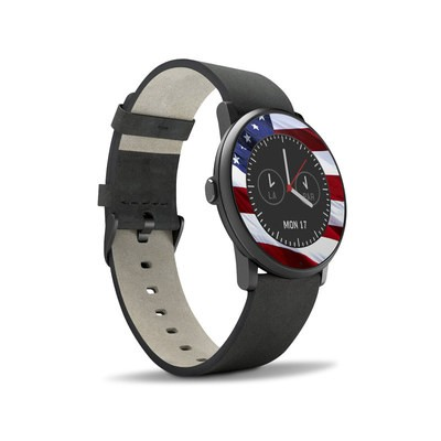 Pebble Time Round Skin - Patriotic
