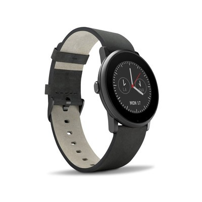 Pebble Time Round Skin - Solid State Black