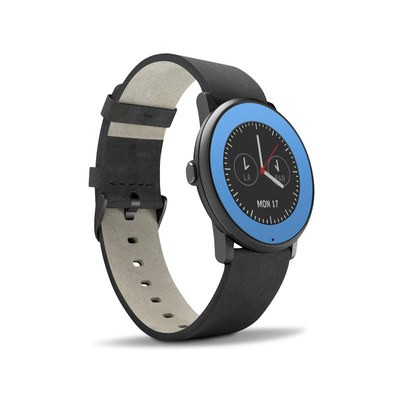 Pebble Time Round Skin - Solid State Blue