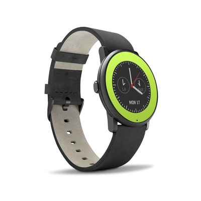 Pebble Time Round Skin - Solid State Lime
