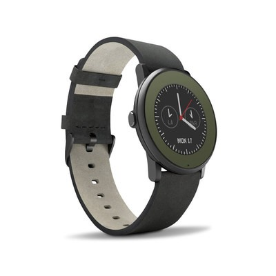 Pebble Time Round Skin - Solid State Olive Drab