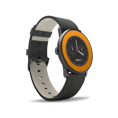 Pebble Time Round Skin - Solid State Orange