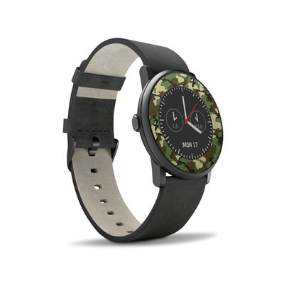 Pebble Time Round Skin - Woodland Camo