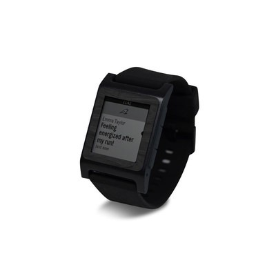 Pebble 2 SE Smart Watch Skin - Black Woodgrain