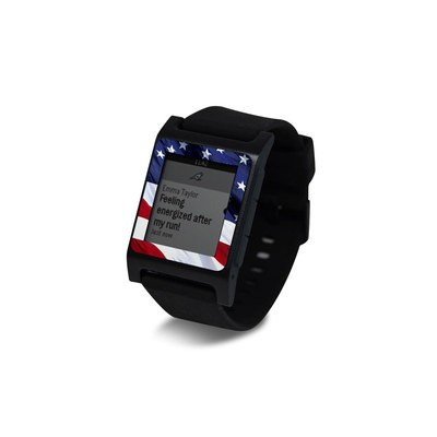 Pebble 2 SE Smart Watch Skin - Patriotic