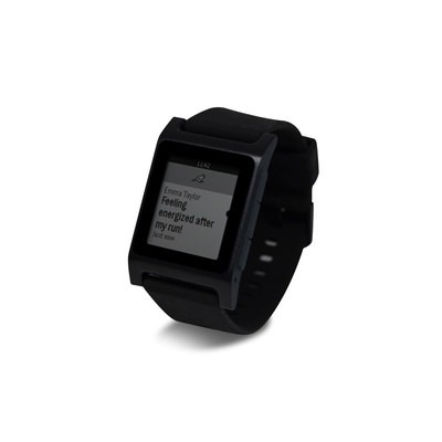 Pebble 2 SE Smart Watch Skin - Solid State Black
