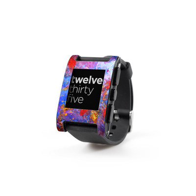 Pebble Watch Skin - Aqua-ese