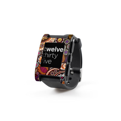 Pebble Watch Skin - Autumn Mehndi