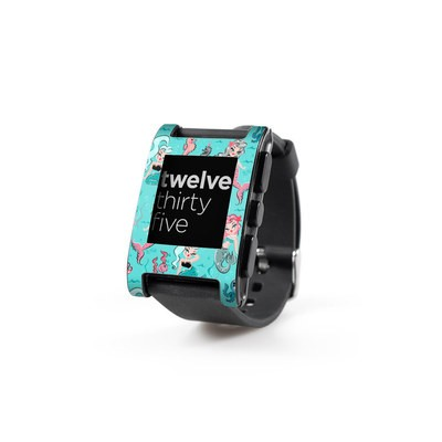 Pebble Watch Skin - Babydoll Mermaids