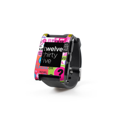 Pebble Watch Skin - BFF Girl Talk