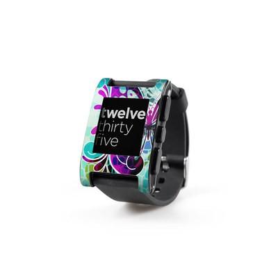 Pebble Watch Skin - Butterfly Glass