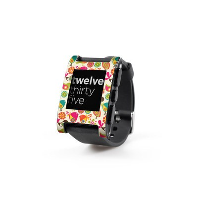 Pebble Watch Skin - Bird Flowers