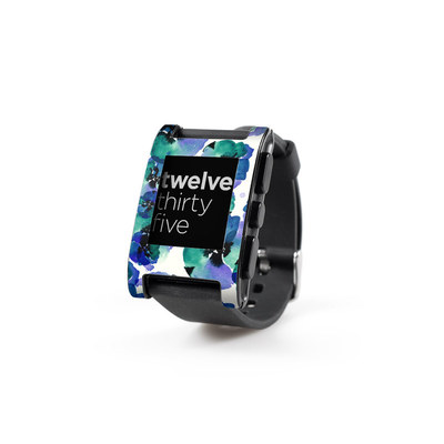 Pebble Watch Skin - Blue Eye Flowers
