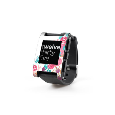 Pebble Watch Skin - Blush Blossoms