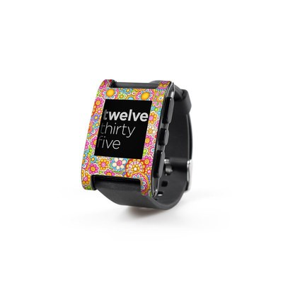 Pebble Watch Skin - Bright Ditzy