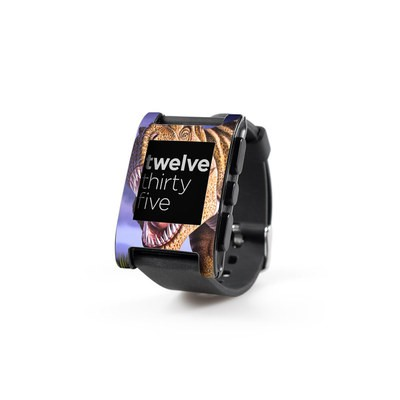 Pebble Watch Skin - Brown Rex