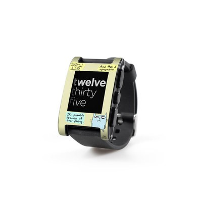 Pebble Watch Skin - Catwad Hate