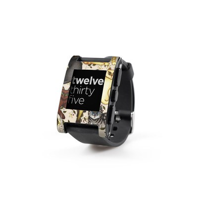 Pebble Watch Skin - Cats