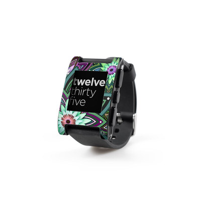 Pebble Watch Skin - Daisy Trippin