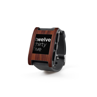 Pebble Watch Skin - Dark Rosewood