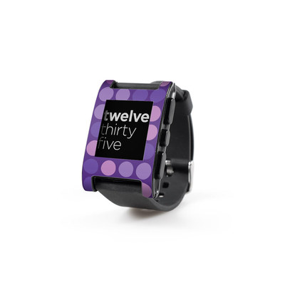 Pebble Watch Skin - Big Dots Purple