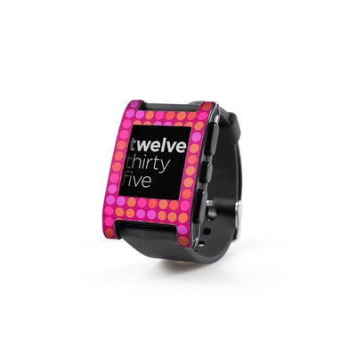 Pebble Watch Skin - Dots Pink
