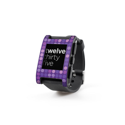 Pebble Watch Skin - Dots Purple
