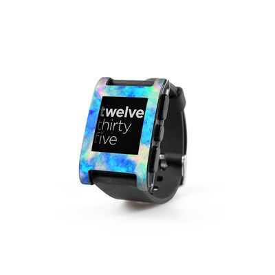 Pebble Watch Skin - Electrify Ice Blue