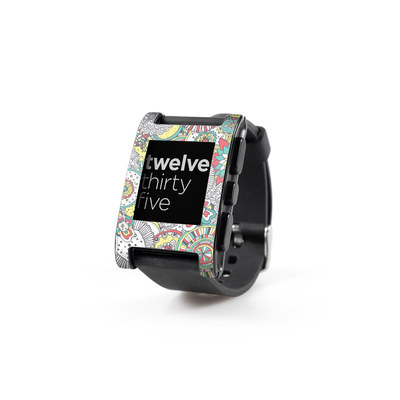 Pebble Watch Skin - Faded Floral