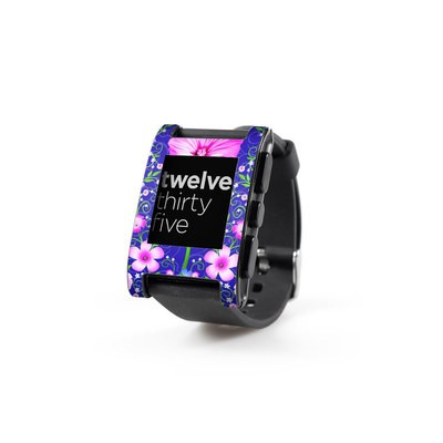 Pebble Watch Skin - Floral Harmony