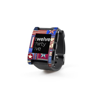 Pebble Watch Skin - Flag Patchwork