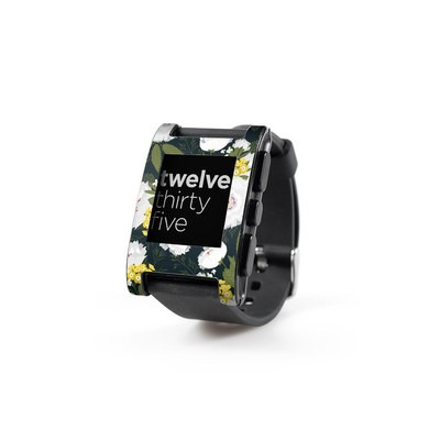Pebble Watch Skin - Fleurette Night