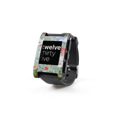 Pebble Watch Skin - Flower Blooms