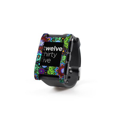 Pebble Watch Skin - Funky Floratopia