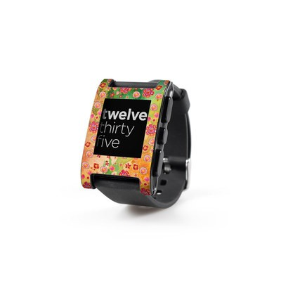 Pebble Watch Skin - Garden Flowers