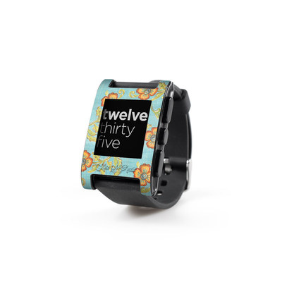 Pebble Watch Skin - Garden Jewel