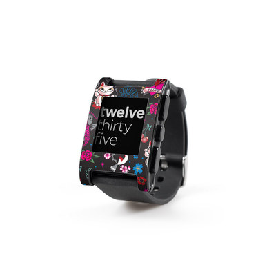 Pebble Watch Skin - Geisha Kitty