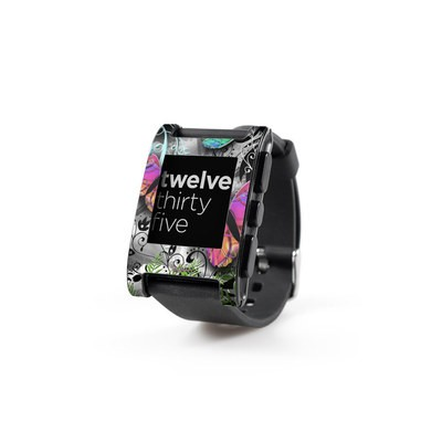 Pebble Watch Skin - Goth Forest