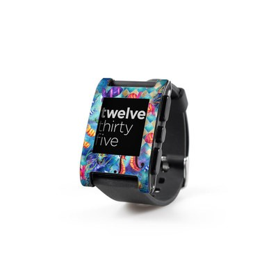 Pebble Watch Skin - Harlequin Seascape