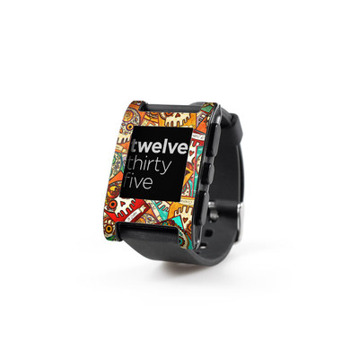 Pebble Watch Skin - Loteria Scatter