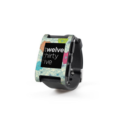 Pebble Watch Skin - May Flowers