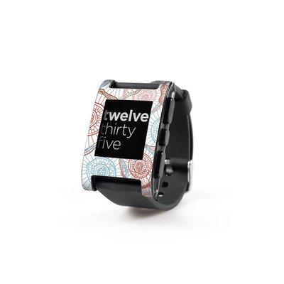 Pebble Watch Skin - Micro Flowers