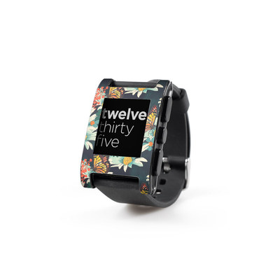 Pebble Watch Skin - Monarch Grove