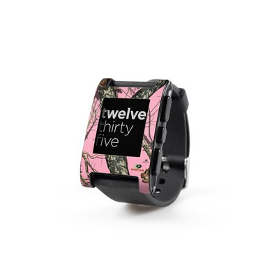 Pebble Watch Skin - Break-Up Pink