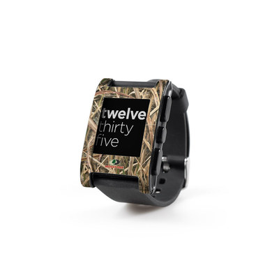 Pebble Watch Skin - Shadow Grass Blades